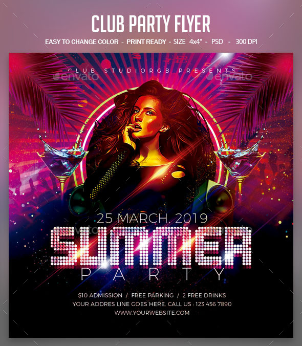 Flyers PSD – Club Social gathering Flyer – Download