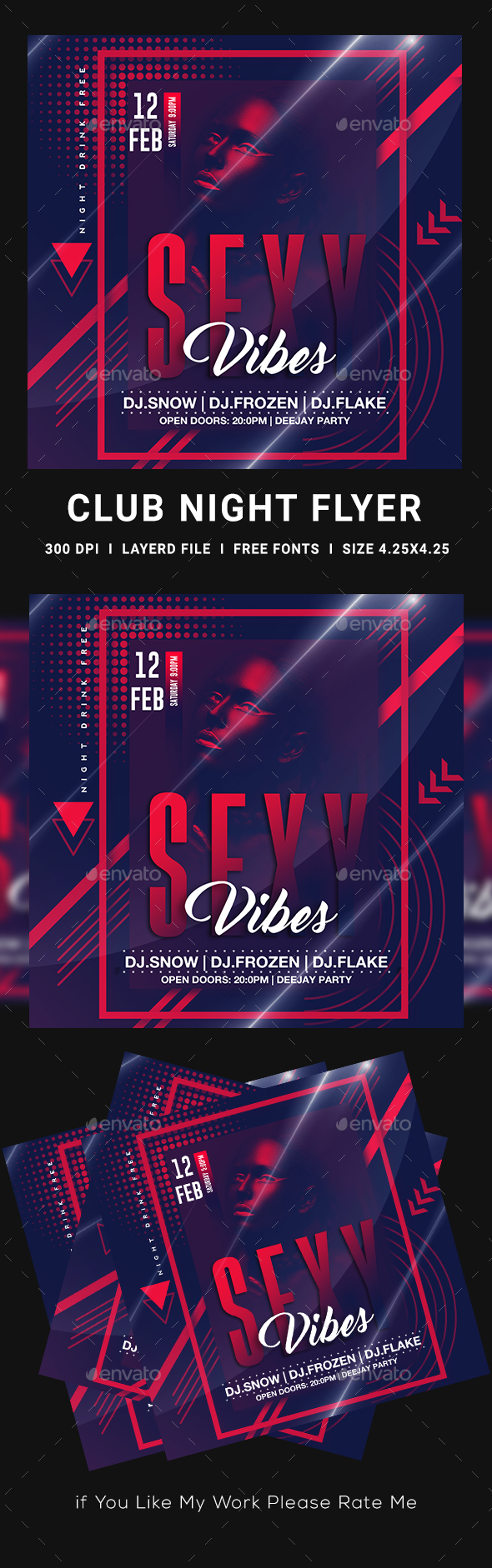 Flyers PSD – Females Evening Flyer Template – Download