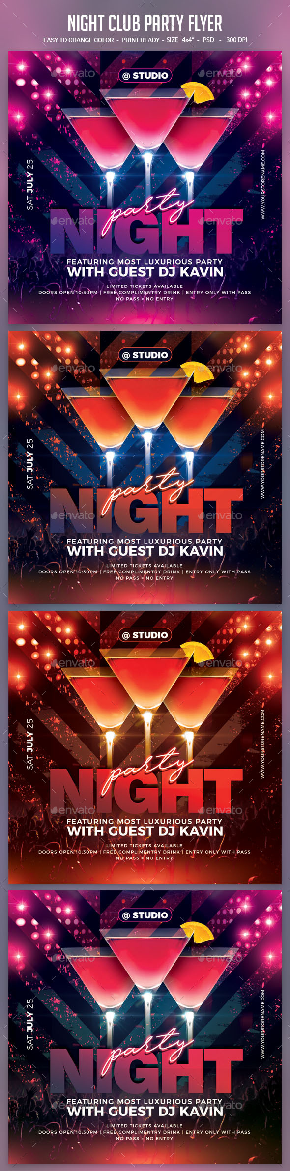 Flyers PSD – Night Club Party Flyer – Download