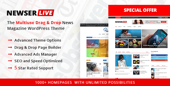 Newser – Newspaper & Journal WordPress Theme – WP Theme Download