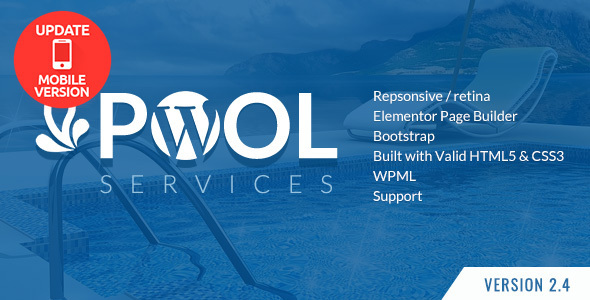 Pool Products and services WordPress Theme + RTL – WP Theme Download