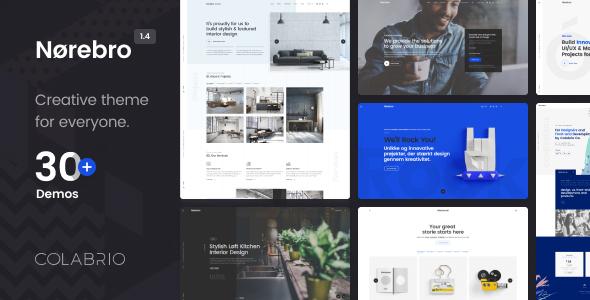 Norebro – Artistic Portfolio Theme for Multipurpose Utilization – WP Theme Download