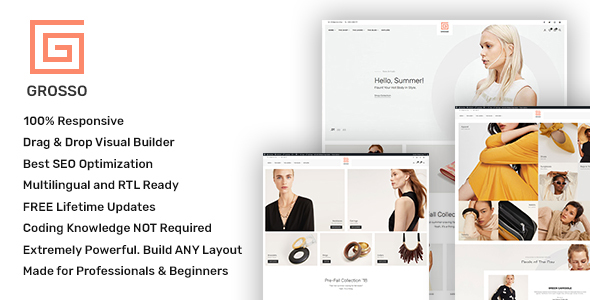 Grosso – As a lot as date WooCommerce theme for the Fashion Industry – WP Theme Download