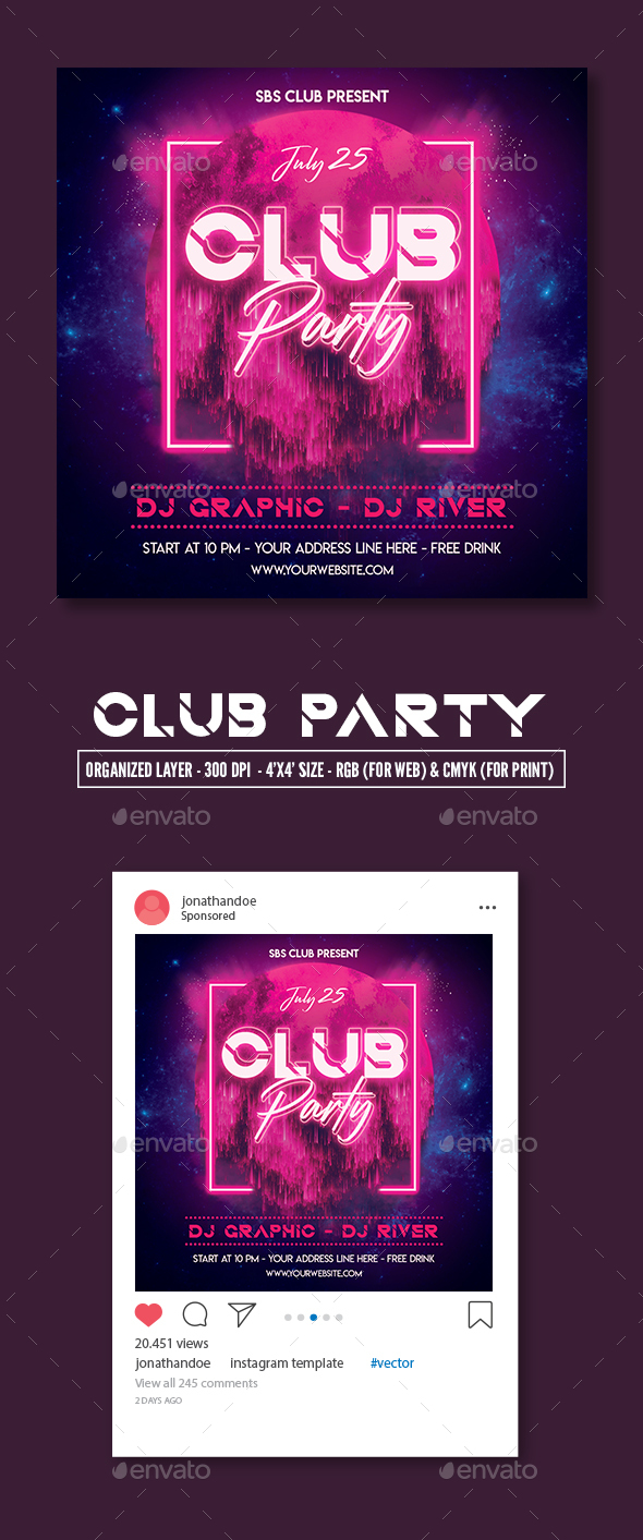 Flyers PSD – Night Club Social gathering Flyer Template – Download