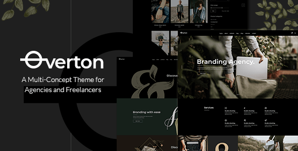 Overton – Ingenious Theme for Agencies and Freelancers – WP Theme Download