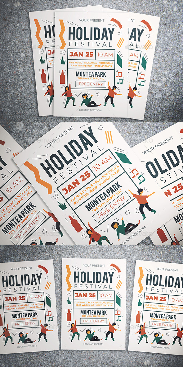 Flyers PSD – Vacation Competition Flyer – Download