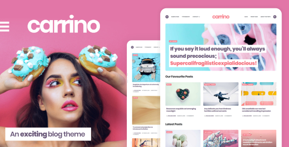 Carrino –  An Provocative Gutenberg Blog Theme – WP Theme Download