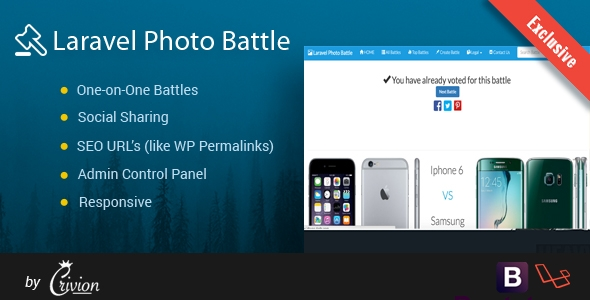 Laravel Photo Battle Script – PHP Script Download