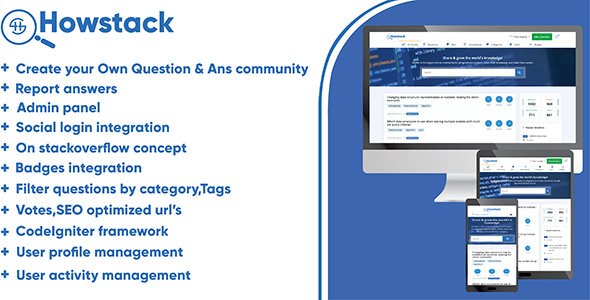 HowStack – Questions And Answers Plateform – PHP Script Download