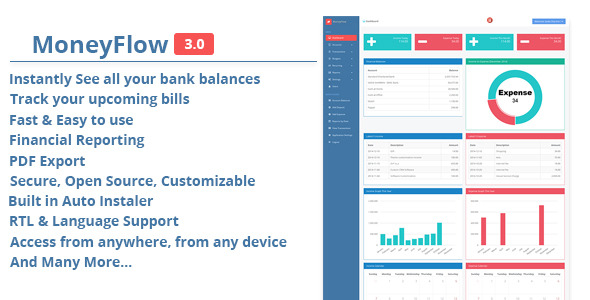 MoneyFlow – Accounting Instrument – PHP Script Download