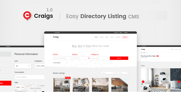 Craigs – Categorized Ads CMS Theme – PHP Script Download