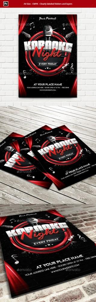 Flyers PSD – Karaoke Night Flyer Template – Download
