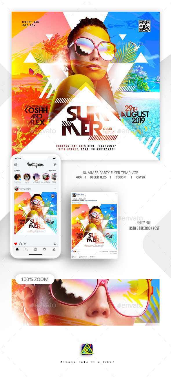 Flyers PSD – Summer season Celebration Flyer – Download