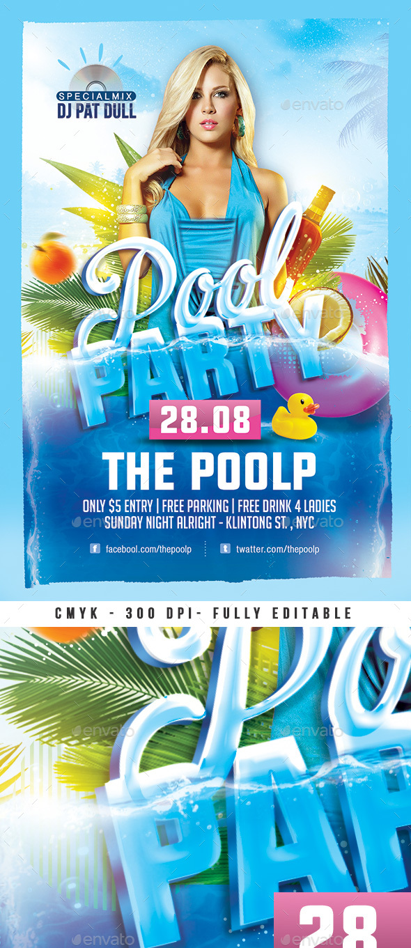 Flyers PSD – Pool Summer season Event Flyer – Download