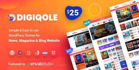 Digiqole – News Journal WordPress Theme – WP Theme Download