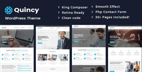Quincy – Enterprise Consulting WordPress Theme – WP Theme Download