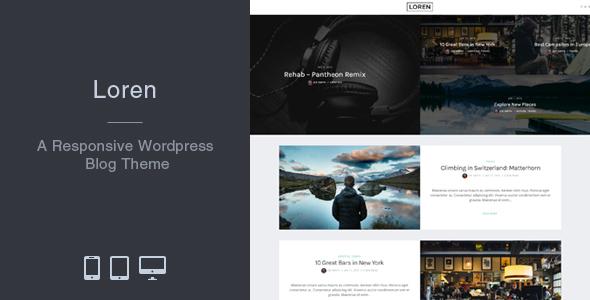 Loren – Responsive WordPress Weblog Theme  – WP Theme Download