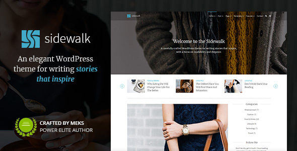 Sidewalk – Tidy Personal Blog WordPress Theme – WP Theme Download