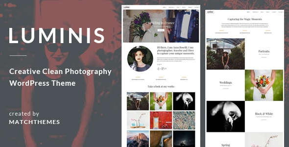 Luminis – Pictures WordPress Theme for Wedding, Commute, Match Portfolios – WP Theme Download