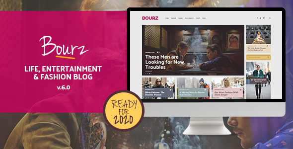 Bourz: Life, Leisure & Style Weblog Theme – WP Theme Download