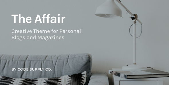The Affair – Inventive Theme for Private Blogs and Magazines – WP Theme Download