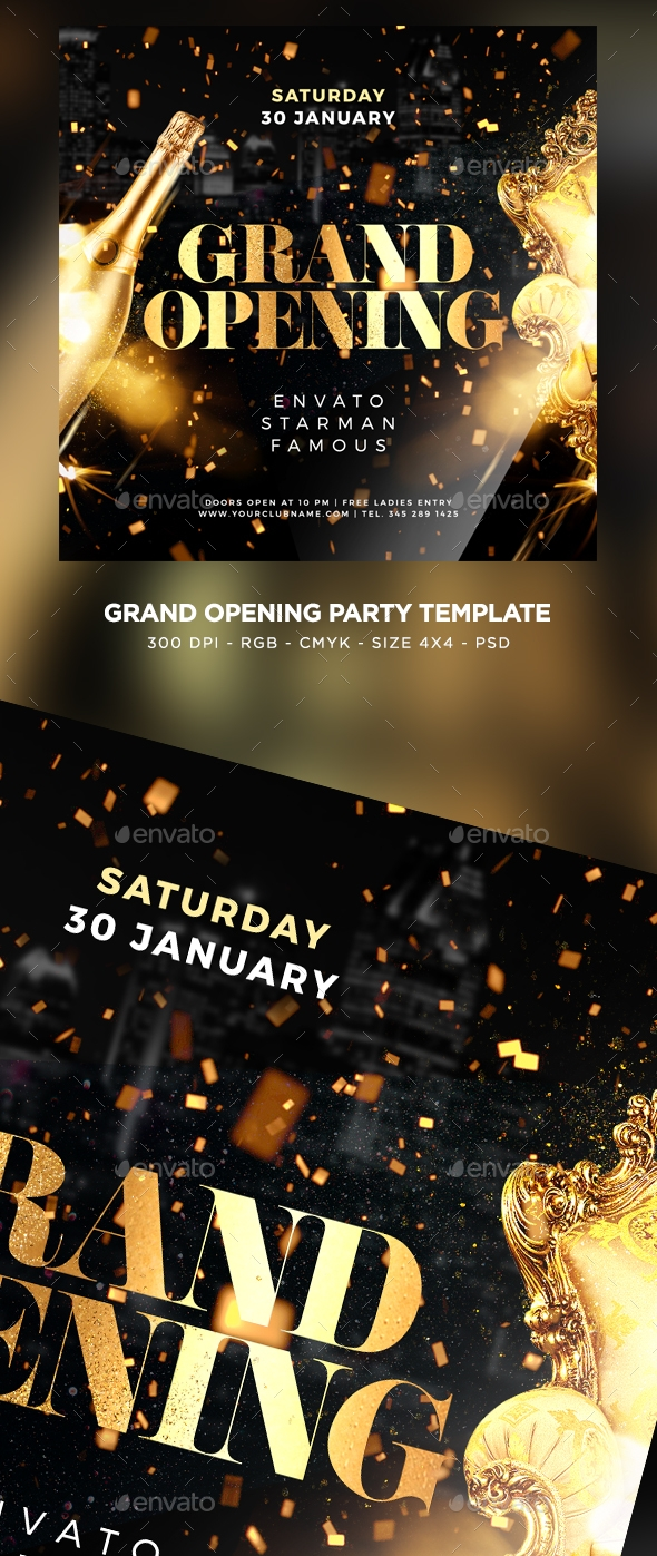 Flyers PSD – Colossal Opening Flyer – Download