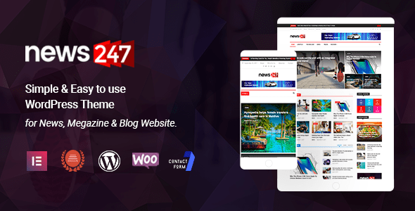 News247 – News Magazine WordPress Theme – WP Theme Download