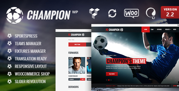 Champion – Soccer & Football WordPress Theme – WP Theme Download