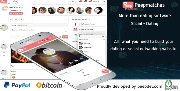 Peepmatches – The remaining php dating and social script – PHP Script Download