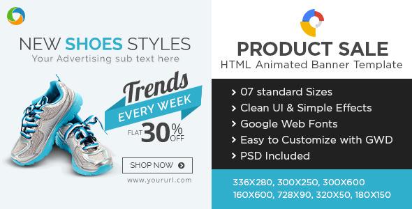 E-Commerce HTML5 Banners – Google Internet Clothier – PHP Script Download