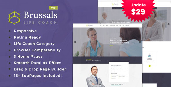 Brussals – Private Model Coach WordPress Theme – WP Theme Download