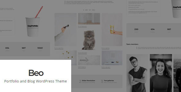 Beo – Portfolio and Blog WordPress Theme – WP Theme Download