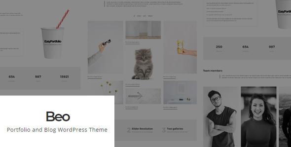 Beo – Portfolio and Blog WordPress Theme – WP Theme Download