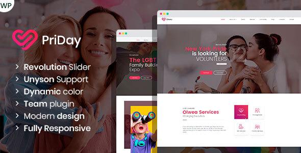 PriDay – LGBT Community WordPress Theme – WP Theme Download