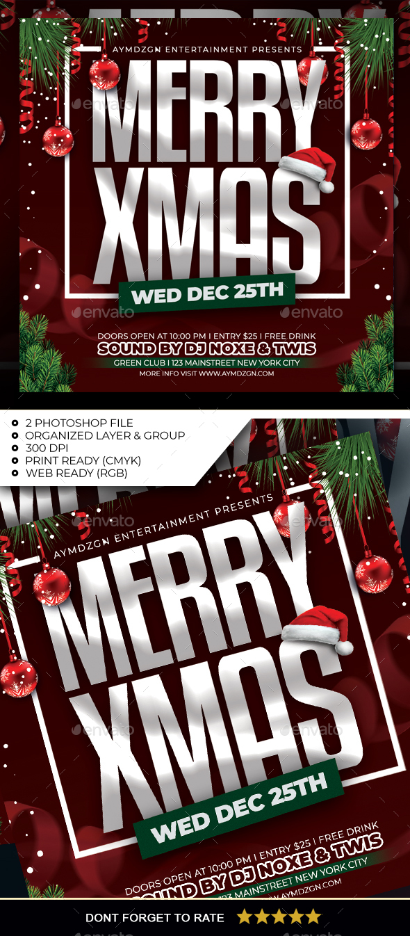 Flyers PSD – Christmas Flyer – Download