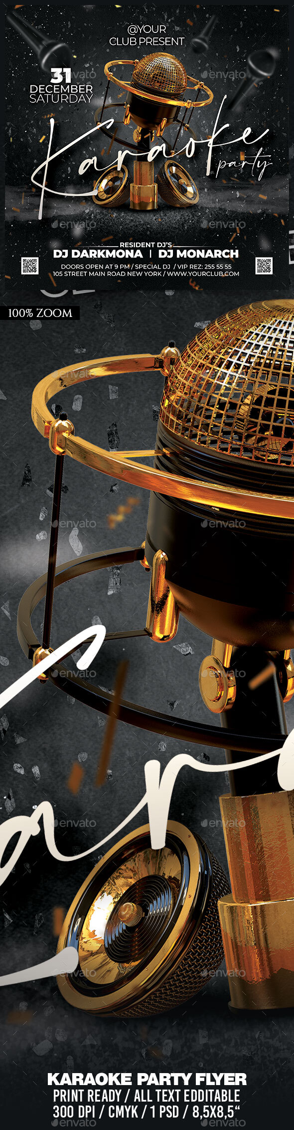 Flyers PSD – Karaoke Occasion – Download