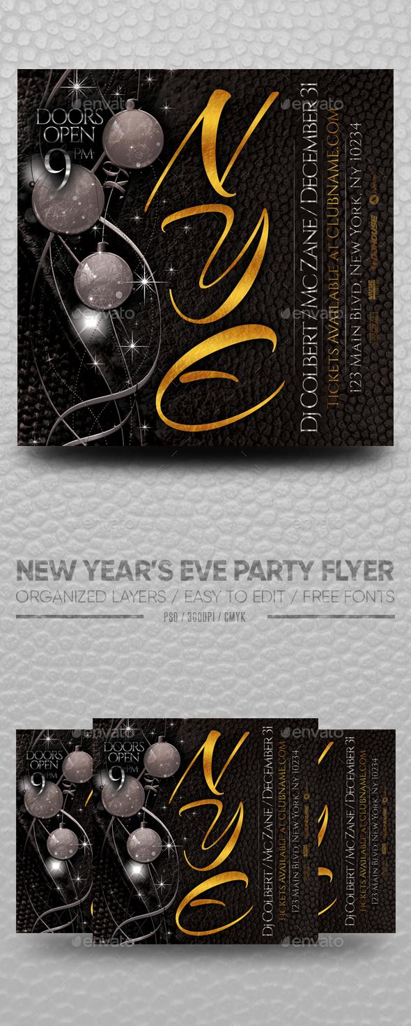 Flyers PSD – Novel Year's Eve Celebration Flyer – Download