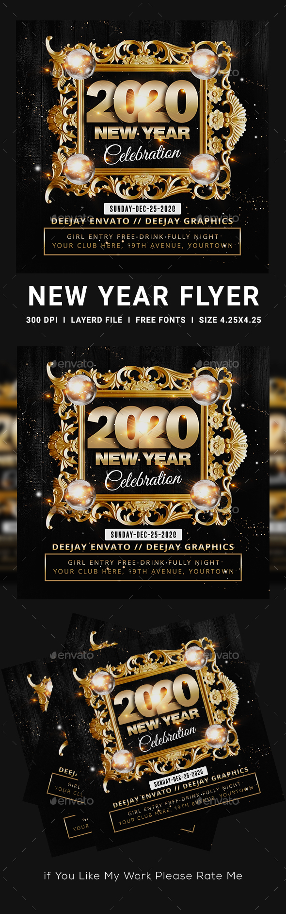 Flyers PSD – Contemporary one year Flyer – Download