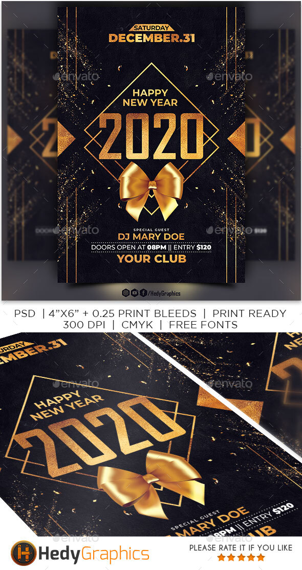 Flyers PSD – Contemporary Year Flyer – Download