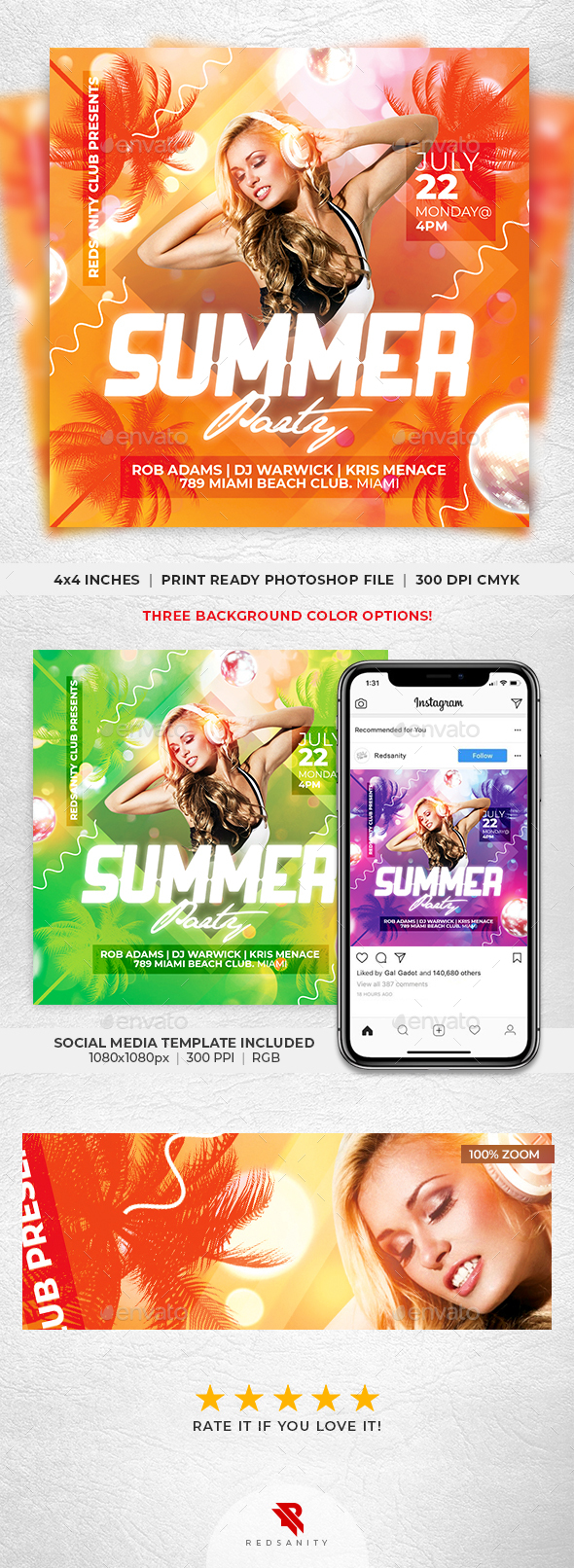 Flyers PSD – Summer Celebration Flyer – Download