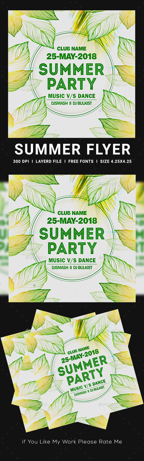 Flyers PSD – Summer time Celebration Flyers – Download