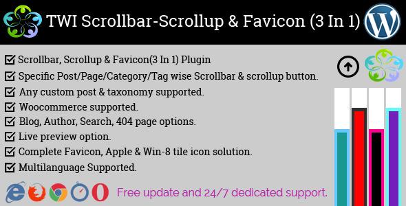 TWI Scrollbar, Scrollup & Favicon (3 in 1) – PHP Script Download