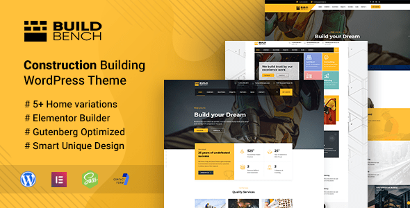 Buildbench – Constructing and Improvement WordPress Theme – WP Theme Download