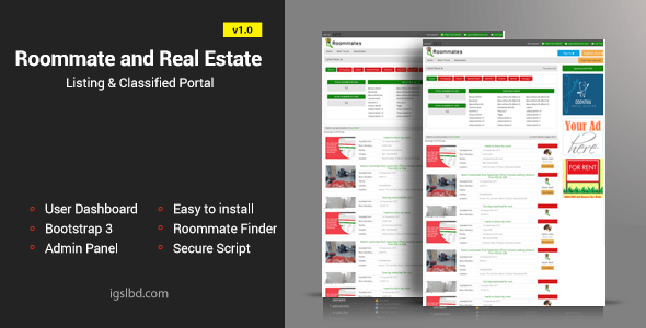 Roommate and Exact Property Itemizing Labeled Responsive Internet Utility – PHP Script Download