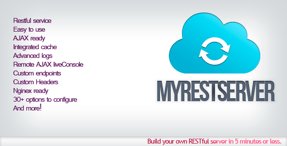 myRestServer – Easy REST Server – PHP Script Download