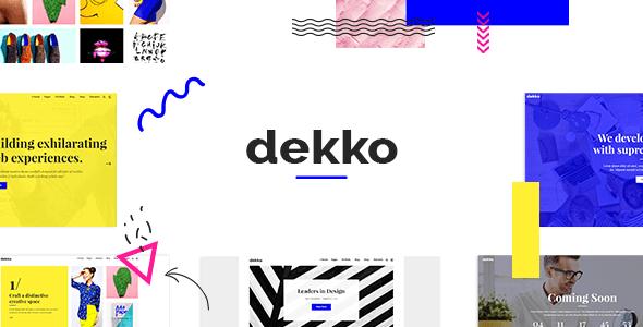 Dekko – Artistic Company Theme  – WP Theme Download