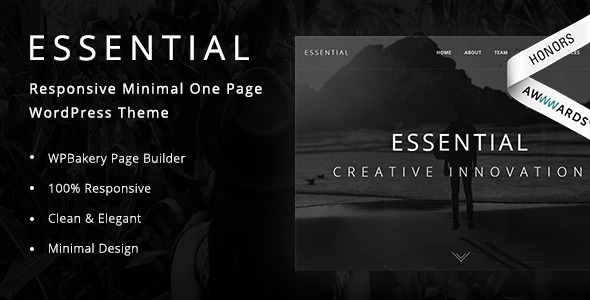 Obligatory – Responsive Minimal One Web page WordPress Theme – WP Theme Download
