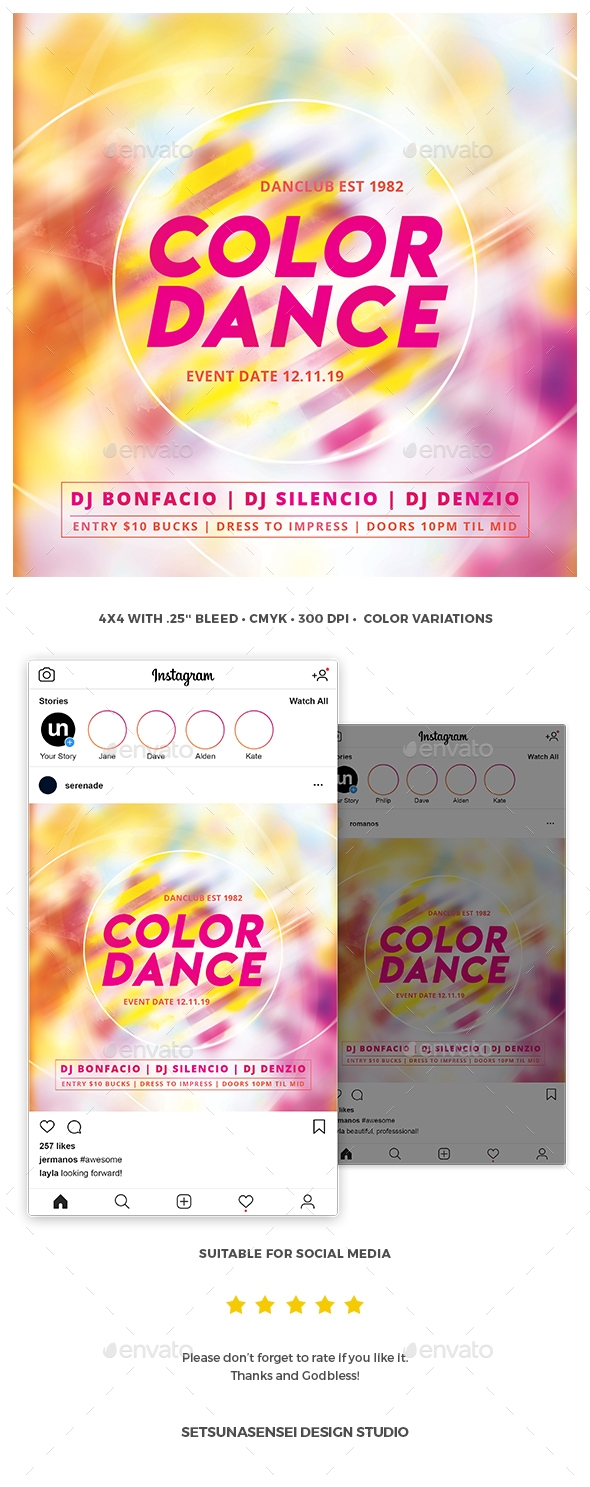 Flyers PSD – Coloration Dance Flyer – Download