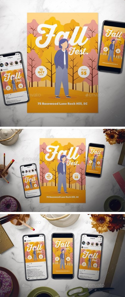Flyers PSD – Topple Flyer Set – Download