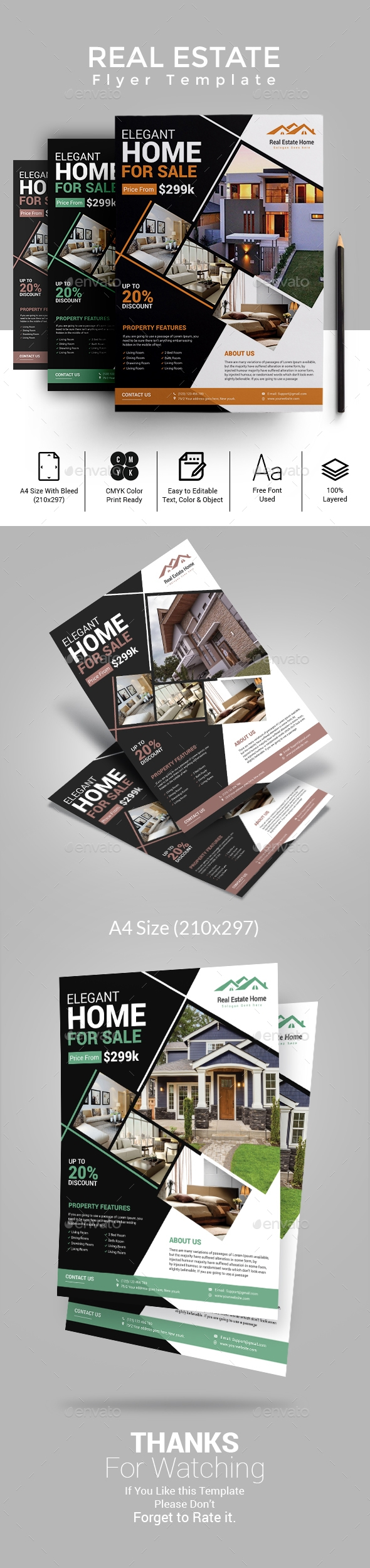 Flyers PSD – Accurate Property Flyer Template – Download